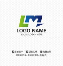 LM字母科技LOGO设计