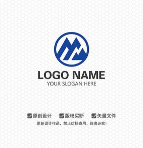 M字母山形文化LOGO设计