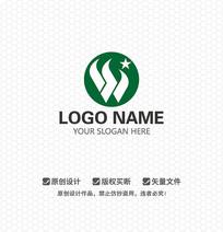 W字母时尚简约LOGO设计