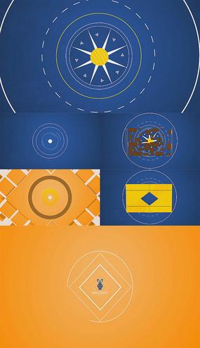 简洁标志小动画logo演绎会声会影模板