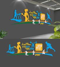 健身房体育运动文化墙