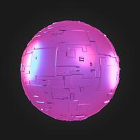 科技感球体装饰