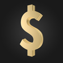 立体金融美元符号