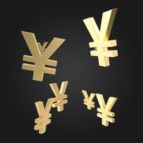 人民币符号漂浮场景