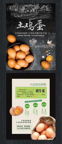 土鸡蛋促销宣传单