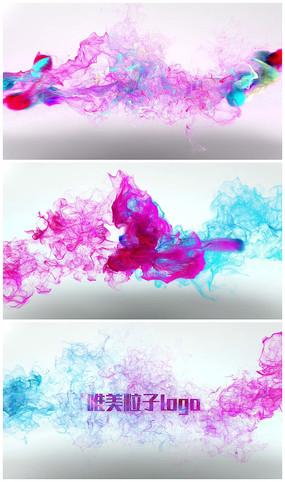 唯美炫彩粒子演绎logo视频模板