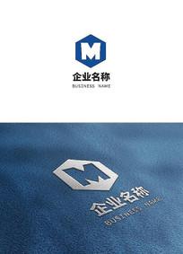 字母M科技标志LOGO