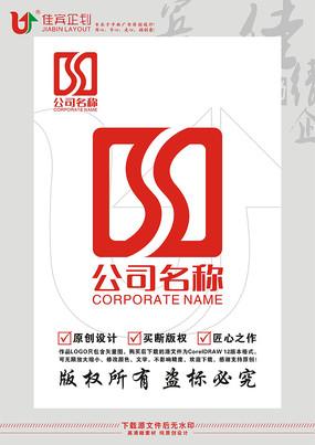 S英文字母印章标志设计