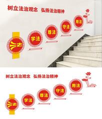 党政机关楼梯法治文化墙