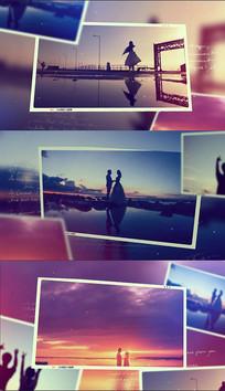 浪漫旅游爱情照片回忆相册pr模板