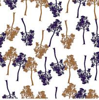 围巾树印花图案CDR矢量图
