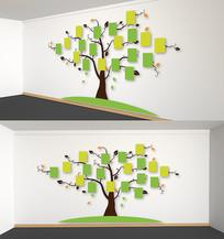 校园卡通树文化墙企业照片墙学生风采墙