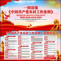 一图读懂中国共产党农村工作条例展板