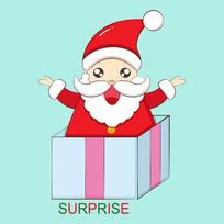原创圣诞老人惊喜卡通表情