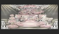 粉色公主城堡主题婚礼效果图