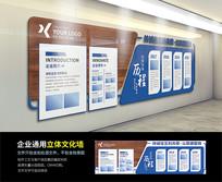 简约蓝色科技大型办公形象墙企业文化墙