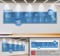 蓝色大型科技企业文化墙