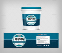 润滑脂桶装包装模板 CDR