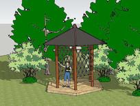 景观凉亭模型