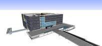 创意博物馆建筑SU模型