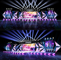 演唱会舞台设计3d模型