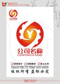 SY字母机械工程齿轮机电LOGO标志设计