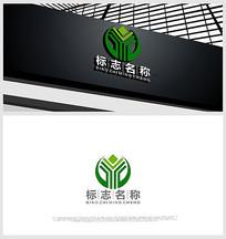 Y字母设计抽象树元素金融LOGO设计
