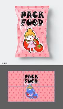 番茄味零食包装袋