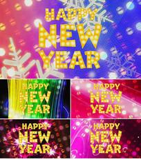 歌曲新年恰恰舞台背景视频素材