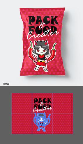 辣味休闲食品包装袋