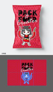 辣味休閑食品包裝袋