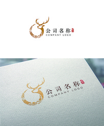 鹿酒logo设计