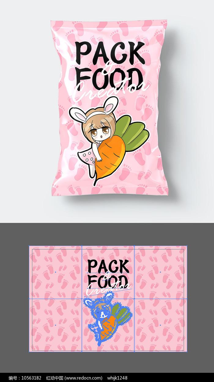 清新食品包装袋设计图片