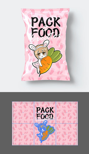 清新食品包装袋设计