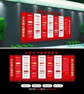 十九大党的光辉历程党建文化墙设计方案