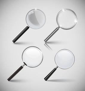 矢量放大镜透视镜图案设计