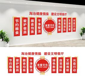 校园餐厅宣传标语文化墙