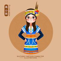 原创56个民族服饰图片-高山族