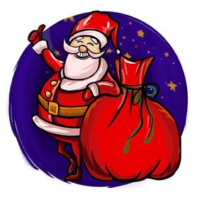 原创元素圣诞老人大礼包