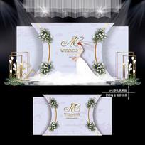 紫色主题婚礼婚礼效果图设计浪漫婚庆舞台