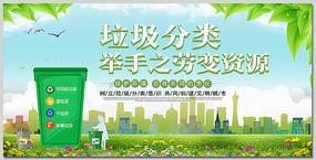 创建文明城市垃圾分类宣传展板设计