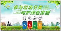 绿色家园垃圾分类展板设计