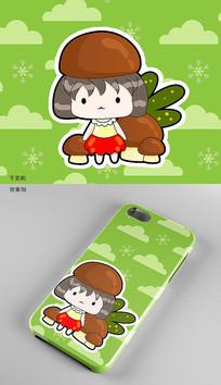 蘑菇手機殼圖案設計