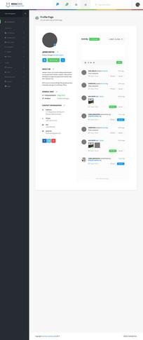 网页设计个人简介界面 PSD