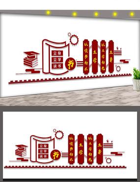 阅览室文化墙展板设计