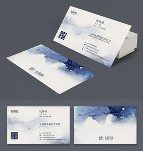 中国风水墨古典名片设计