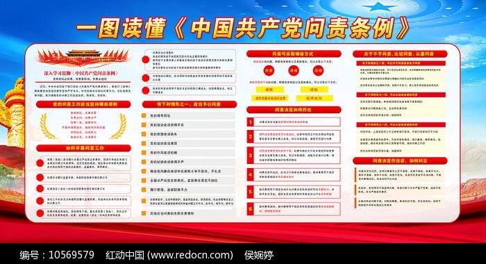 中国共产党问责条例展板设计图片