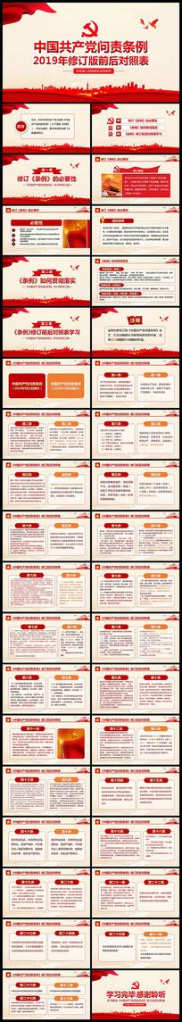 中国共产党问责条例修订前后对照表PPT