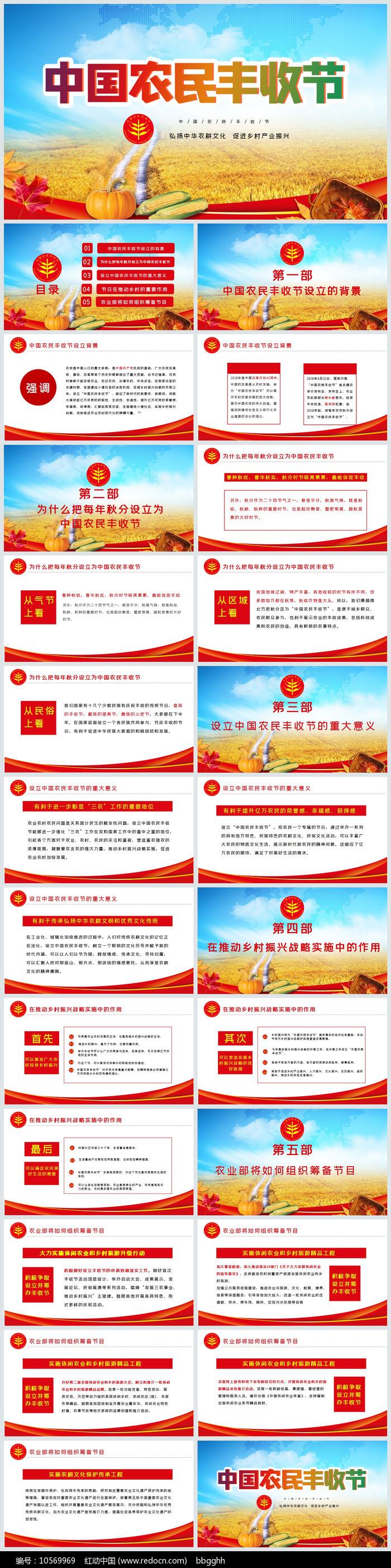 中国农民丰收节PPT图片