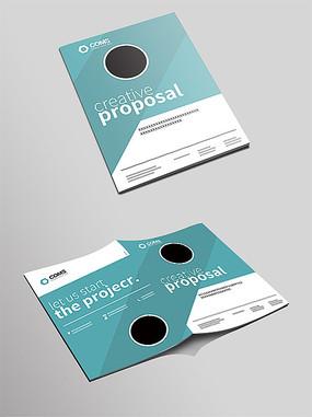 大气简洁科技画册封面设计模板